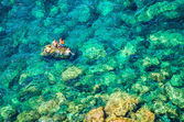 Turisti mediterranei — Foto Stock