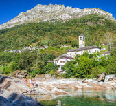 Verzasca Valley - Church — Stok fotoğraf
