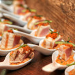 Smoked Salmon Canape — Stockfoto