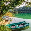 Small boats at Lac du Val, France — Stock Photo #14802343