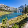 Lake Oeschinen, Switzerland — Stock Photo