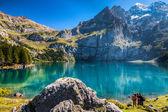 Lake Oeschinen, Switzerland — Stock Photo
