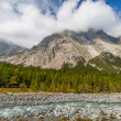 Stock Photo: Val Veny, Italy - The Mountains and The River