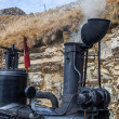 Green Brienz-Rothorn steam engine — ストック写真 #18340651