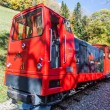 Brienz-Rothorn, Switzerland - Red Train Car - Stock Photo