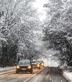 Schnee in genf, schweiz — Stockfoto
