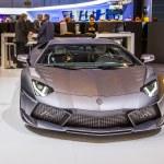 83rd Geneva Motorshow 2013 - Lamborghini Aventador Masonry Carb — Stock Photo