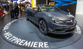 83rd Geneva Motorshow 2013 - Vauxhal Cascada — Stock Photo