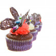 Chocolate Butterfly Cupcakes - Stock Photo