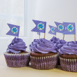 Purple Cupcakes — Stock Photo