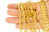 Gold Chains — Stock Photo