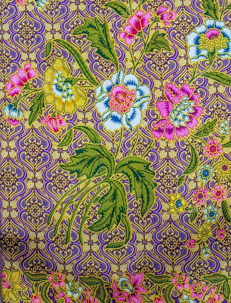 Malaysian Batik Pattern Image