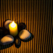 Zen Stones and Candle — Stock Photo