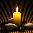 Zen Stones and Candle — Stockfoto