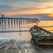 Jetty Sunset — Stock Photo