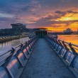 Pier and Sunset — Stock Photo