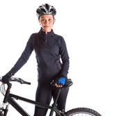 Female With Mountain Bike — Stock Photo
