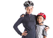 Mother and Daughter Cycling Attire — Stock Photo
