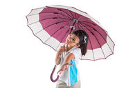 Little Girl and Umbrella — Stock Photo