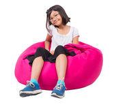 Little Asian Girl Relaxing — Stock Photo