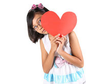 Young Girl Valentine — Stock Photo