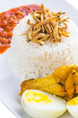 Malaysian Nasi Lemak — Stock Photo