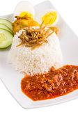 Malaysian Nasi Lemak — Stock Photo