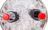 Cola Drinks With Ice Cubes — Stock Photo