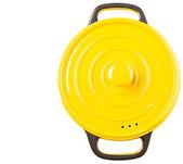 Yellow Cooking Pot — Stock Photo