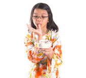 Young Girl With A Bowl Of Ice Cream — Stockfoto