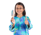 Young Girl With Ice Cream — Stock Photo