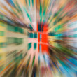 Stock Photo: Zoom Blur Motion Colors Abstract
