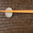 Stock Photo: Chopstick on Woven Tray