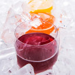 Stock Photo: Fruit Juices in Glass