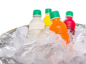 Bottled Fruit Juice Drinks — Stock Photo