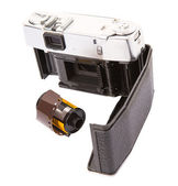 Old Camera And Film Cartridge — Stock Photo