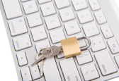 Keyboard and Padlock — Stock Photo
