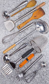 Collection of kitchen utensil — Stock Photo
