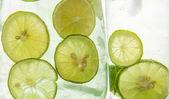 Lime Juice Background — Stock Photo