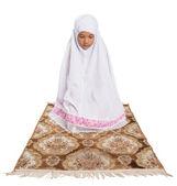 Young Muslim Girl Praying — Stock Photo