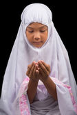 Young Girl In White Hijab — ストック写真