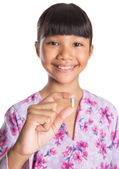 Young Girl And Medicine Tablets — Foto Stock