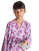 Young Girl And Medicine Tablets — Stock Photo