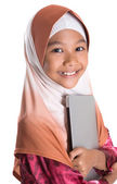 Young Muslim Girl With Laptop — Foto de Stock