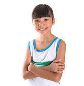 Mladá dívka v atletické oblečení — Stock fotografie