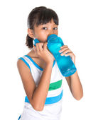 Young Girl With Water Bottle — Stockfoto