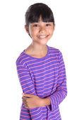 ストライプのシャツの若い女の子 — ストック写真