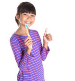 Young Girl With Toothbrush — Stock Photo
