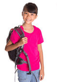 Young Girl With Backpack — Stock Photo