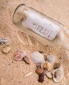 Messaggio in una bottiglia — Foto Stock